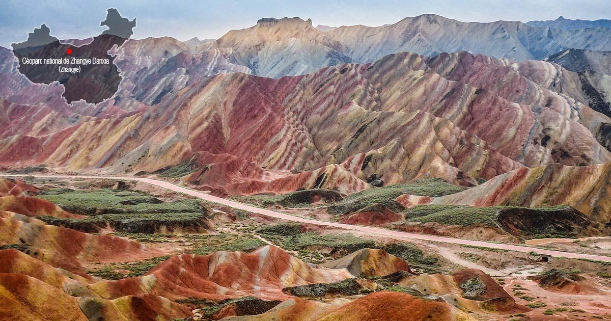 Géoparc national de Zhangye Danxia
